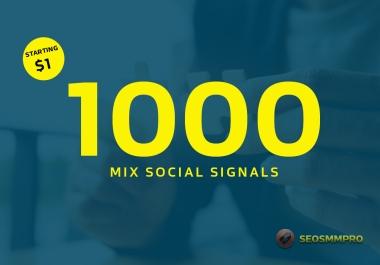 1000+ PR9 SEO Quality Social Signals BOOST