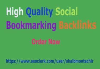 Provide 30 high quality social bookmarking backlinks