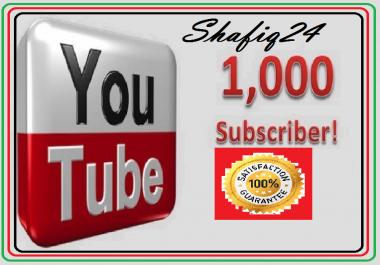Get 1,000  You Tube Subs criber Non Drop Instant Start