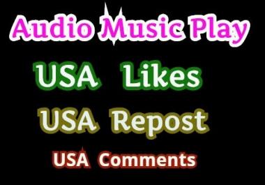Get 20,000 High Retention Music Play,200 LlKE, 120 Rep0st 10 C0mments
