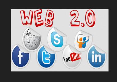 Fast promotion your website with (pr7-pr9)  40 web 2.0 backlink