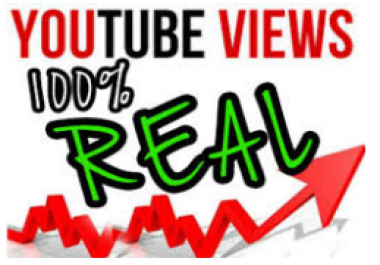 1000 Non-drop YouTube Views and 100 HQ Likes to your Video within 24 hours