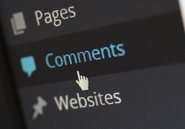 Manually High Quality Blog Comment For Your Site