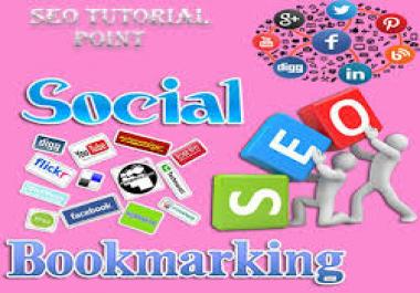 Give you 50+ PR10 To PR5 High Quaility Social Bookmark backlink