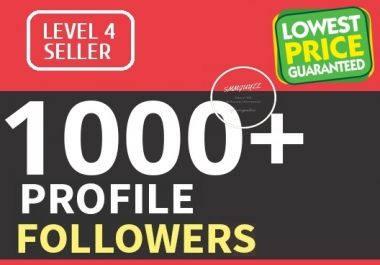 Add 1000 Fast HQ Profile Followers