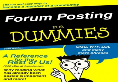 promote your website by 50 you high quality forums posting  with backlink