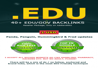 Manual 40 High DA + EDU & GOV Profile Backlinks to google Rankup