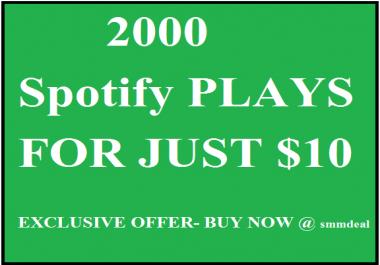 2000 spotify plays fast