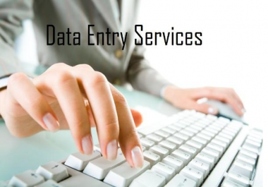Any type of Data Entry work 2  hours