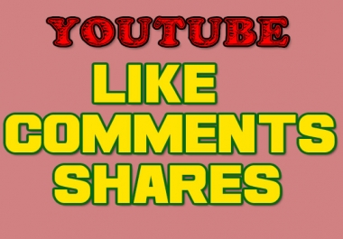 USA Base 50 Youtube comments + 200 Youtube shares + 50 youtube likes