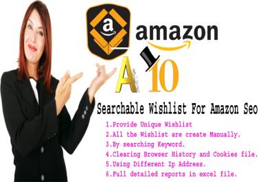 Amazon A10 Algorithm 250 Unique Searchable Wishlist For Amazon Seo