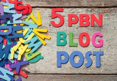 Create 5 Pbn Post Linking To Your Site Homepage Sticky