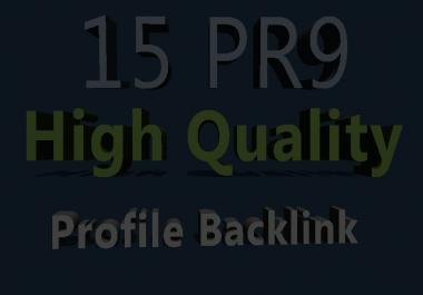 15 PR9 High Authority Profile Backlinks
