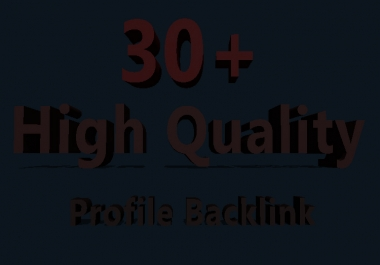 Do Manually 30  PR9 High Athority Profile Backlinks