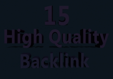 manually 15  High Quality Powerful Permanent Profile Backlinks
