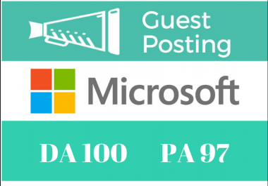 Publish a Guest Post on Microsoft com -DA100  Dofollow Indexable