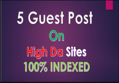 Do Publish Guest Post On 5 Df Website And Indexed