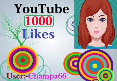 Safe video add 1000 like + with bonus 100 subscriber Quick delivery only