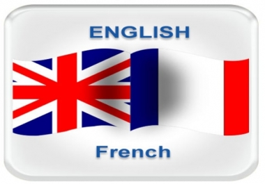 I do  French-English translation