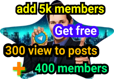 Add 5,000 members to telegram channel