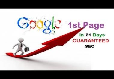 Guaranteed google First Page Rankings