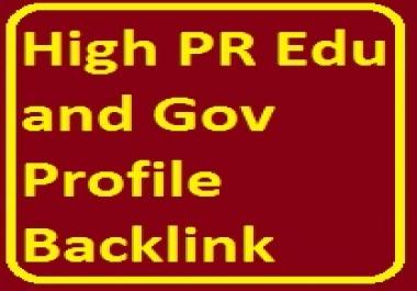 Elevate Website Ranking -High PR 10 Edu Gov Profile Backlink