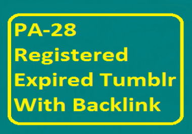 PA 27-31 10 Expired Tumblr Blog with Natural Backlink