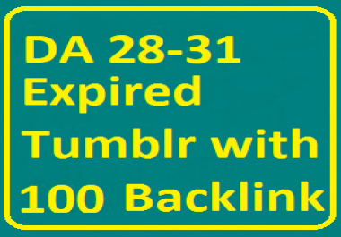PA 28-31 7 Expired Tumblr Blog with Total 100+ Backlink