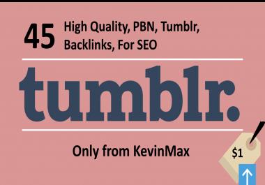 Do, High Quality, 45, Pbn, Tumblr, Backlinks, For Seo