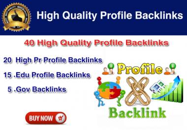 Build 40 SEO backlinks with high domain authority and edu domains