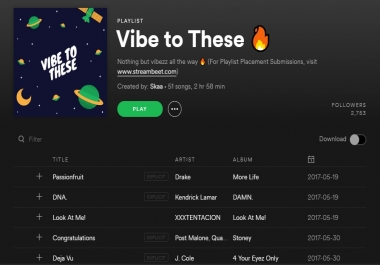 add your track to my spotify playlist with over 3,500+ followers (2 weeks placement)