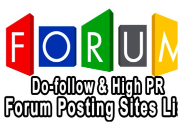 provide 50 High Quality  Forum posts