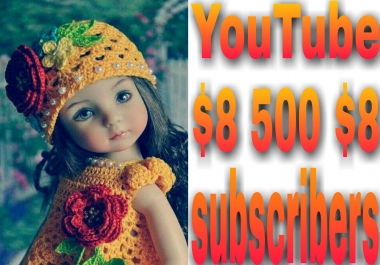 Instantly provide  500 YouTube channel subscriber non drop very fast in 2-1 hours