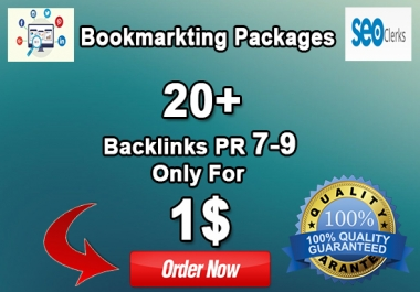 MANUALLY 20+ SOCIAL BOOKMARKING,BACKLINKS FROM  9-7 PR SEO SOCIAL WABSITES ONLY FOR 1$