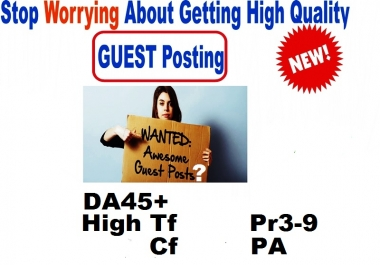 Authority Guest Post Service-Submit 3 Permanent High Quality Premium Guest Posts On 3 QUALITY Websites with -High TF DA CF PR PA Sites - Benefits Traffics Backlinks and Exposure -GUARANTEED Service