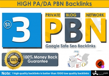 3 High Quality PBNs - Dofollow Backlinks