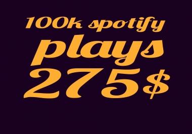 100k 100000 spotify plays