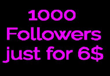 Get 1000 Music/Artist Profile Followers