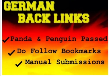 Provide 25 High Quality And Safe Germany Back Links