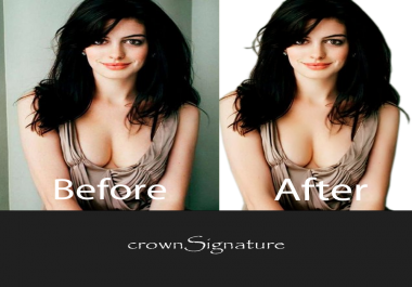 Remove 30 images background, retouch within 24 hours Delivery