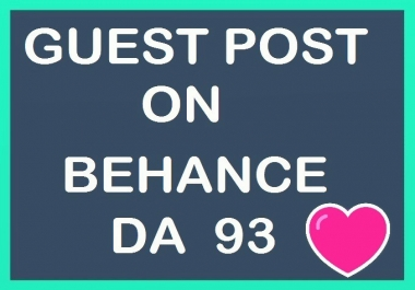 Write N Publish Guest Post On Behance DA 93 Manually