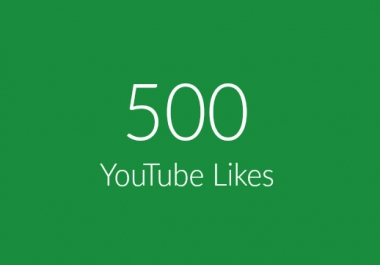 500 Real YouTube Likes Within 24-48 Hours