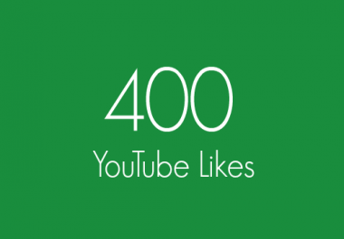 400+ Real YouTube Likes Within 12-24 Hours