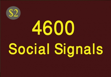 Build 4600 Powerful Social Signals white hat seo backlinks to social fields