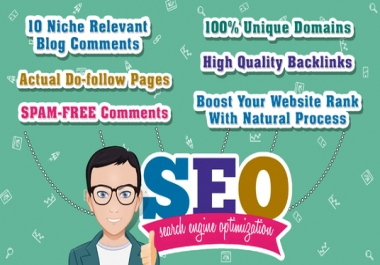 Buy 2 Get 1 Free  Do 10 Niche Relevant dofollow Blog Commenting on actaul pages