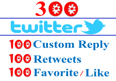 Manual Twitter Post- 100 Reply or Custom Comments + 100 Share + 100 Like For- Twitter Post URL- All Real Profile User