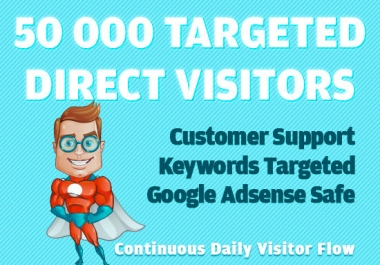 50000 niche targeted quality whitehat traffic