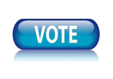 100 Signup vote, email vote, IP vote, Contest Vote, Website vote, etc