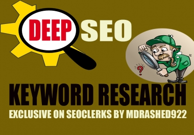 Get You Deep SEO Keyword Research and Competitor Analysis For Your Business or Website