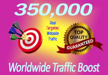 350,000+ TARGETED Human Traffic to your Website/Blog